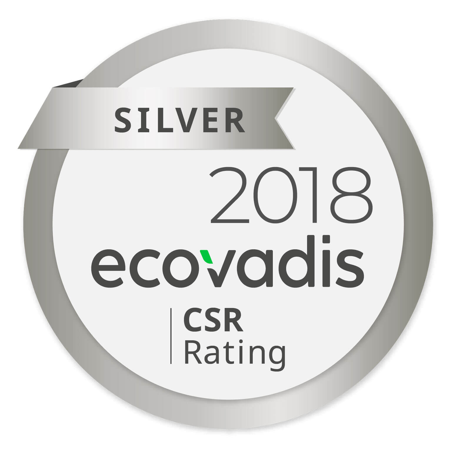 Ecovadis CSR Silber 2018 - Rating